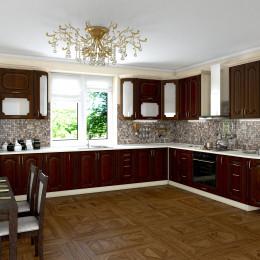 Кухня Платинум кедр люкс з чорною патиною