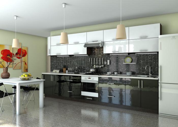 Кухня Гламур (белый глянец) Фото