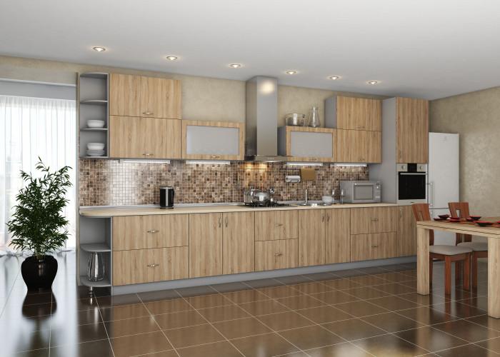 Кухня Модест дуб сонома Фото