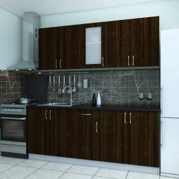 Кухня Санрайз венге темный