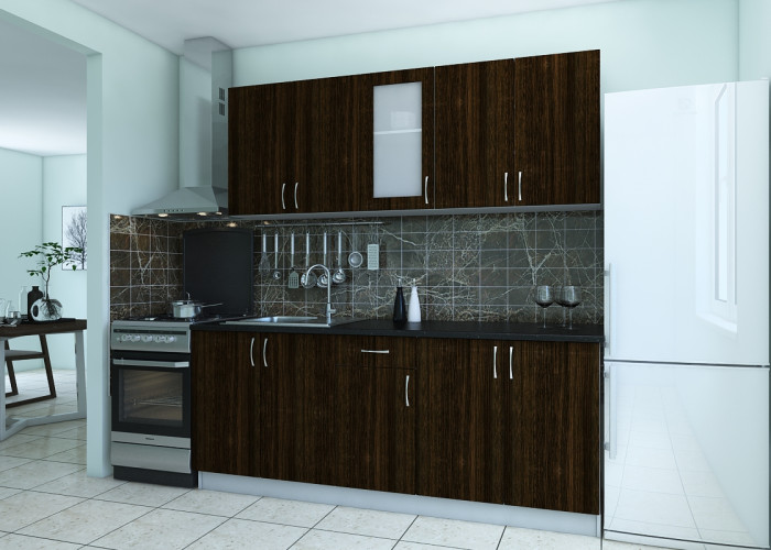 Кухня Санрайз венге темный Фото