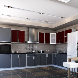 Кухня Винтаж бордо / графит