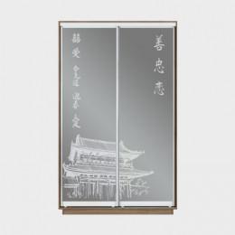 Образцы художественного матирования на 2 дверей для шкафа-купе