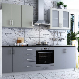 Кухня Софт шелковисто-серый
