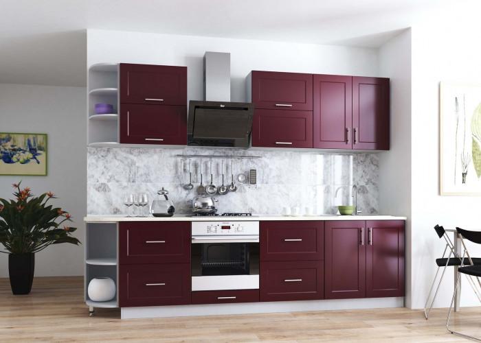Кухня Рич винно красный Фото
