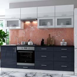 Кухня Брайт (RAL9003/7024)